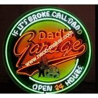 Metal Can Dad's Open 24 Hours Neon Business Signs