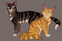 hawkfrost & mothwing blehhh dA ruined the quality ;;_;; go here to see it better lol - climbstudio.tumblr.com/image/1…