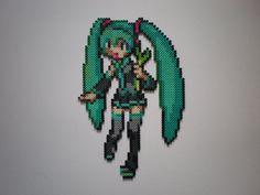 Hatsune Miku Vocaloid perler bead sprite by 8-BitBeadsStudio  on deviantART