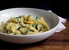 A Sweet & Savory Marriage in the Form of Summer Squash Pasta