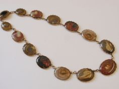 ANTIQUE GEORGIAN GOLD & AGATE NECKLACE C. 1820 - EARLY 19TH CENTURY