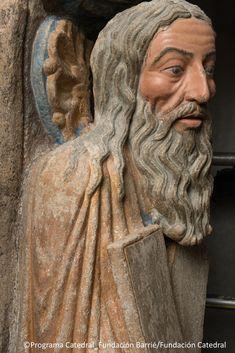 Antes / Después Romanesque Art, Romanesque Architecture, Medieval, Religious Images, Sculpture Art, Religion, Iglesias, Statue, Santos