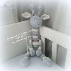 Crochet Giraffe Pattern, Crochet Elephant, Elephant Pattern, Crochet Patterns, Crochet Bebe, Crochet Bunny, Crochet Animals, Crochet Toys, Diy Crafts Crochet
