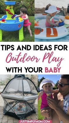 11 Tips and Ideas for Being Outside with a Baby - Just Simply Mom Mama Baby, Baby Safe, Baby Christmas Photos, Diy Christmas, Baby Hacks, Baby Tips, Baby Pool, 6 Month Old Baby, Summer Activities