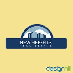 """Get A Real Estate Logo for Your Real Estate Business like """"New Heights"""" only From Designhill.com"""