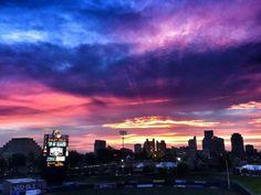 Sacramento's Raley Field at dusk