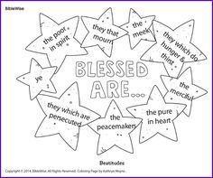 "Coloring (Beatitudes ""Blessed Are.."") - Kids Korner - BibleWise"