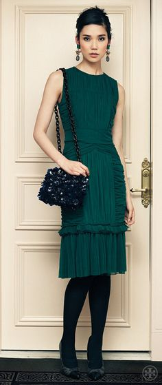 Tory Burch Ethel Cotton Tule Dress  I would wear this to marry in