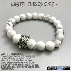 Yoga Bracelets Manifesting Meditation Tibetan Buddhist Beaded Mala Men & Women. #LOA Law of Attraction. White Turquoise Twine.