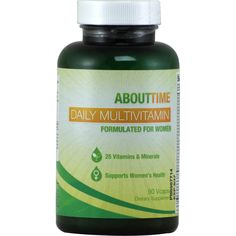 About Time Women's Multi-Vitamin 90 ct   Regular Price: $39.99, Sale Price: $20.99   OvernightSupplements.com   #onSale #supplements #specials #AboutTime #VitaminsandMinerals    Daily MultivitaminFormulated for Women25 Vitamins and MineralsSupports Women s HealthAboutTime doesn t believe in sacrificing one good thing for another we want it all That s why we develop products that stand for great quality AboutTime Daily Multivitamin is a complete vitamin and mineral formula wit