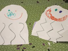 Halloween Paper Ghost Crafts Great for Cutting Practice! Kindergarten, preschool. - repinned by @PediaStaff – Please Visit ht.ly/63sNt for all our ped therapy, school & special ed pins