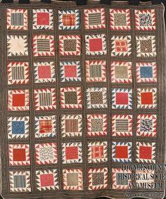1880-1910. Love the striped sashing.