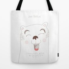 JUST SMiLE! Tote Bag by Diana Ortscheid -
