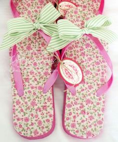 cute DIY flip flops