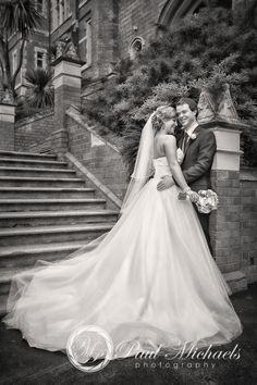 Wellington Hunter building with wedding couple