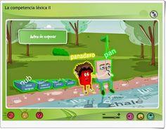 """""""Juega con las palabras"""" (Competencia léxica II) es un magnífico conjunto de juegos que prueban la capacidad sobre el conocimiento de familias de palabras, prefijos, sufijos, palabras compuestas y palabras de otras lenguas."""