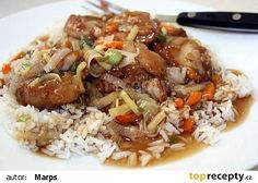 Šanghajské kuře na česneku recept - TopRecepty.cz China Food, Asian Recipes, Ethnic Recipes, Fried Rice, Poultry, Food And Drink, Potatoes, Cooking Recipes, Menu