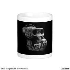 Skull the gorillas. classic white coffee mug