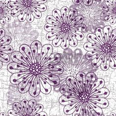 White-gray-violet grunge pattern with violet translucent flowers Stock Photo - 19360157