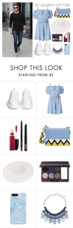 """City vacation with Niall Horan"" by angelwingsoutfits ❤ liked on Polyvore featuring Robert Clergerie, Miss Selfridge, MAC Cosmetics, Prada, Maison Michel and Laura Mercier"