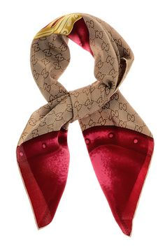Bauletto Berry Silk Scarf by Gucci