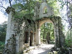 Remains of an ancient chapel in the woods at le parc Majolan à Blanquefort, Gironde, 33.