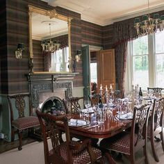 Tartan-wallpaper ~ this is unbelievable!  i adore the whole room :)