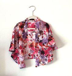 Kids Kimono- Floral Kimono- Girls kimono- Girls Cover Up- Floral Kimono