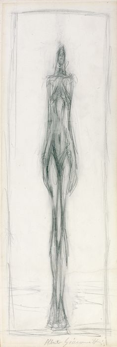 "Alberto Giacometti – ""Femme debout"" (Standing woman), drawing in crayon on paper dated Life Drawing, Figure Drawing, Drawing Sketches, Painting & Drawing, Art Drawings, Woman Drawing, Alberto Giacometti, Art Et Illustration, Illustrations"