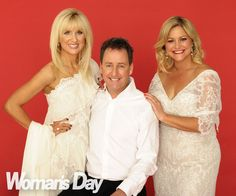 """For this issue, our columnist Kate Hawkesby played a festive prank on hubby Mike Hosking - the """"ultimate Grinch!"""" The couple are pictured here with Mike's *Seven Sharp* co-host Toni Street."""