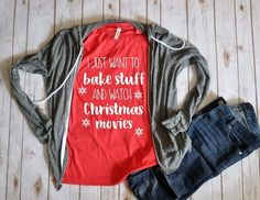 I just want to bake stuff and watch Christmas movies Unisex T-shirt