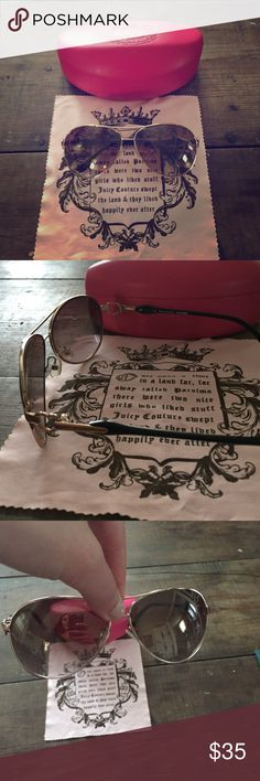 Juicy couture sunglasses Very stylish. In good condition tony scratch marks. Juicy Couture Other