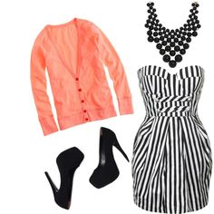 """""""Stripes with a pop"""" by karrina-renee-krueger on Polyvore"""