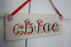A beautiful handcrafted, wooden name plaque with 3D lettering.
