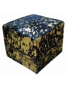 SIT Möbel Sitzwürfel Schwarz-Gold This & That