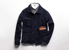 Apolis | Indigo Wool Chore Jacket