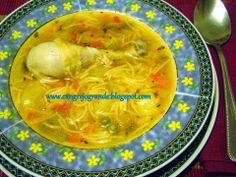 CANGREJO GRANDE: Sopa de Pollo con Fideos / Ciorba de Pui cu Fidea.