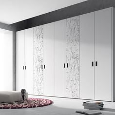 Professional Furniture Manufacturer High Gloss PVC Bedroom Wardrobe picture from Shenzhen Prima Industry Co.