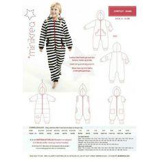 Patron de couture combinaison capuche Minikrea 50440