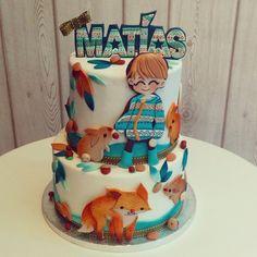 #autumn#cake#matias#baptism#lapequeñapasteleriademama (en La Pequeña Pastelería de Mamá)