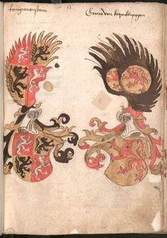 Wernigeroder (Schaffhausensches) Wappenbuch Süddeutschland, 4. Viertel 15. Jh. Cod.icon. 308 n  Folio 55r