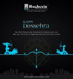 The famous Hindu festival Dussehra, also known as Vijayadashmi or Ayudhapuja, is celebrated on the 10th day of Shukla Paksha (the bright half) in the month of Ashvin (as per Hindu calendar) and falls on 11th October this year.The name Dussehra is derived from Sanskrit word Dasha-hara which means Dashanan ravan. Vijayadashami is derived from Vijay which means victory and Dashmi mean the tenth day.