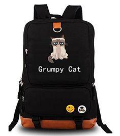 YOYOSHome Anime Grumpy Cat Cosplay Bookbag College Bag Daypack Backpack School Bag (1)