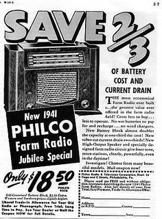 1940 ad for 1941 #philco jubilee #special 90cb farm radio #print ad,  View more on the LINK: 	http://www.zeppy.io/product/gb/2/172289566821/