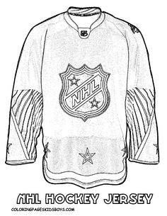 NHL worksheets for kids | Hockey Coloring Sheet Jersey at coloring-pages-book-for-kids-boys.com
