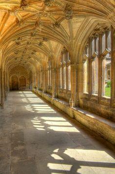 Lacock Abbey Cloister  by rogbi200, via Flickr