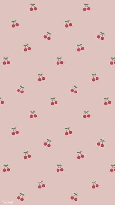 Red hand drawn cherry pattern on pink mobile phone wallpaper illustration Whats Wallpaper, Cute Pastel Wallpaper, Cute Patterns Wallpaper, Soft Wallpaper, Iphone Wallpaper Vsco, Aesthetic Pastel Wallpaper, Iphone Background Wallpaper, Aesthetic Wallpapers, Aesthetic Gif