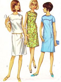 1960s Simplicity Sewing Pattern 6487 Womens Mod by CloesCloset