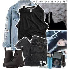 Gasoline, Halsey by zombielover100 on Polyvore featuring moda, Nudie Jeans Co. and Dr. Martens