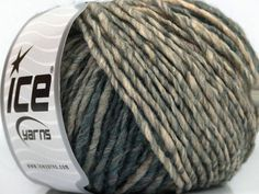 New York Wool yarn, grey blend, 92 yards per skein, gradient wool blend yarn, Worsted Weight Yarn, Ice Yarns New York Wool, #40023 - pinned by pin4etsy.com